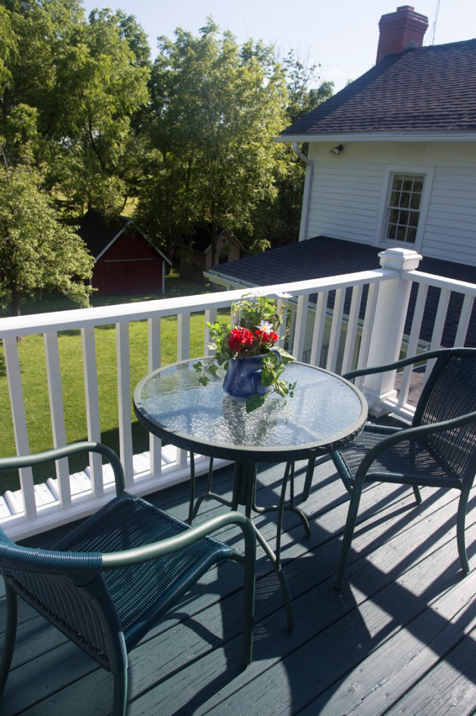 Private Balcony, Meadowview Suite, Captain Kinne House B&B, Ovid, NY