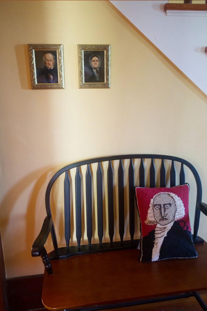 Portraits of Elijah Kinne, Jr. and his wife, Captain Kinne House B&B, Ovid, NY